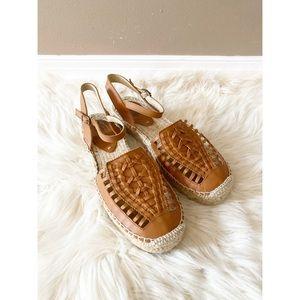 Soludos Brown Huarache Espadrille Sandals